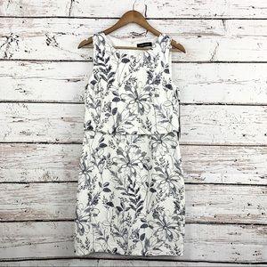 NEW! IVANKA TRUMP Printed Linen Pop-Over Dress